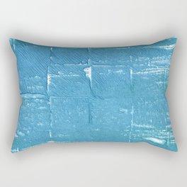 Carolina blue abstract watercolor Rectangular Pillow