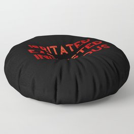 Irritated, Exhausted, Indigenous Floor Pillow