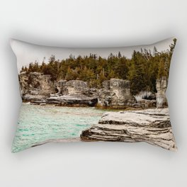 The Grotto Tobermory Ontario Rectangular Pillow