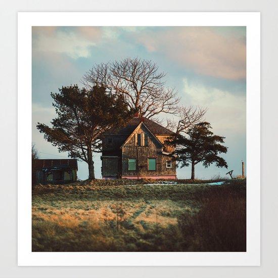 Hilltop Homestead Art Print
