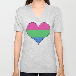 Polysexual Heart Unisex V-Neck