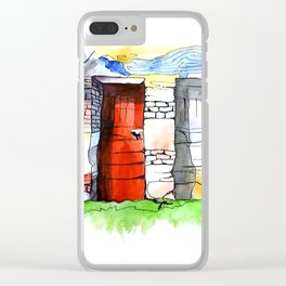 One Of Two Doors Clear iPhone Case