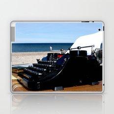 Writer at the Beach Laptop & iPad Skin