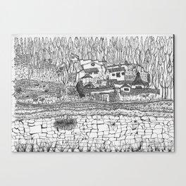 shaman house Canvas Print