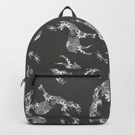Christmas pattern design Reindeer Stars grey Backpack