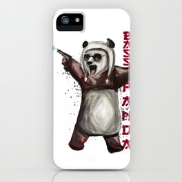 Bass Panda iPhone Case