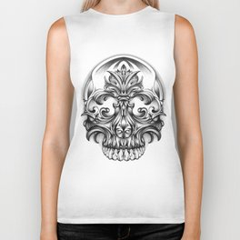 Engravering Skull Biker Tank