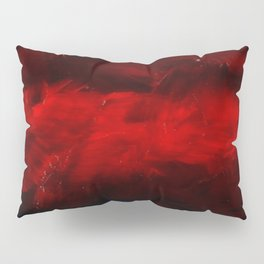 Modern Art - Dark Red Throw Pillow - Jeff Koons Inspired - Postmodernism - Corbin Henry Pillow Sham
