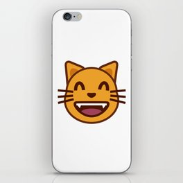 cat face emozy iPhone Skin