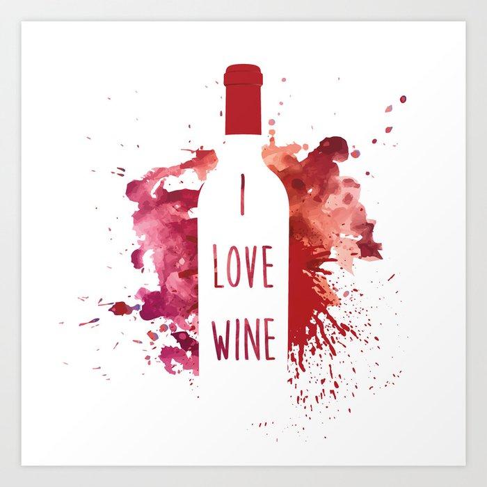 wine bottle Art Print