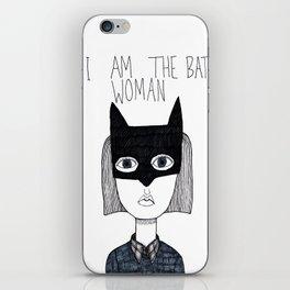 Bat Woman iPhone Skin