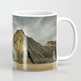 Jagged and dramatic Three Cliffs Bay Coffee Mug