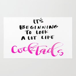 Its Beginning to Look Like Cocktails Rug
