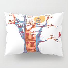 African Baobab tree of life at Sunset Pillow Sham