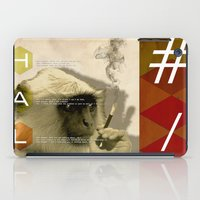 fez iPad Cases featuring hal by Rosa Picnic