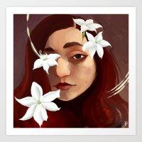 Yasmine Heart Art Print