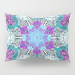 Winter's Snowflake Kaleidescope Design Pillow Sham