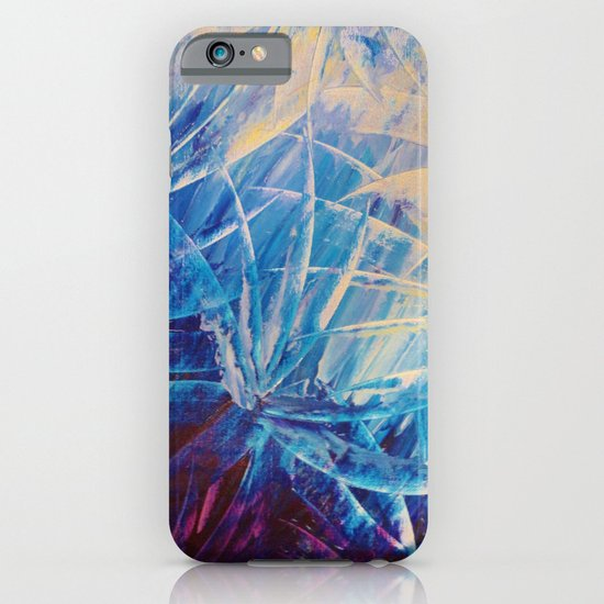 NIGHT FLOWERS - Beautiful Midnight Florals Feathers, Eggplant Lilac Periwinkle Cream Modern Abstract iPhone & iPod Case