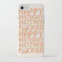 happy birthday iPhone & iPod Cases featuring Happy Birthday by Vickn