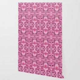 Pretty Flirty Boujee Boho French Style Print Wallpaper