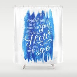 You Keep Moving On [Sunday In The Park With George] Shower Curtain