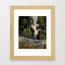 Gray, Henry Percy (1869-1952)  - On Sunset Highways 1921 - A forest glade, California Framed Art Print