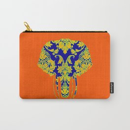 Elephant head damasks thermal color Carry-All Pouch