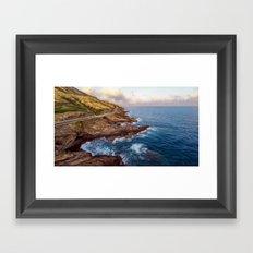 The Ka Iwi Coastline Framed Art Print