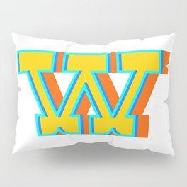 Letter W Pillow Sham