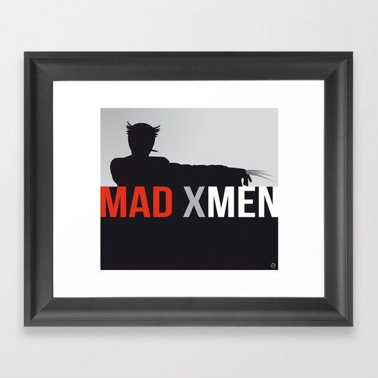 MAD X MEN Framed Art Print