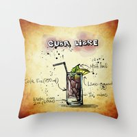 cuba Throw Pillows featuring Cuba Libre by jamfoto