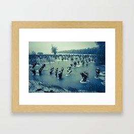 Waardenburg, Icy river forelands (WALND3842) Framed Art Print