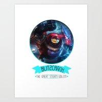 league of legends Art Prints featuring League Of Legends - Blitzcrank by TheDrawingDuo
