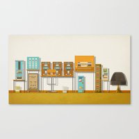 budapest hotel Canvas Prints featuring The Grand Budapest Hotel  by Daniel long Illustration