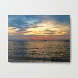Marthas Vineyard Sunset at Menemsha  Metal Print