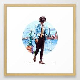 The New York Man Framed Art Print