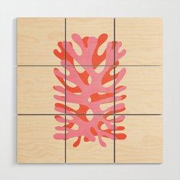 Sea Leaf: Matisse Collage Peach Edition Wood Wall Art