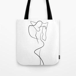 Lovers - Minimal Line Drawing 1 Tote Bag