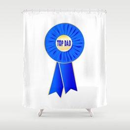 Top Dad Rosette Shower Curtain