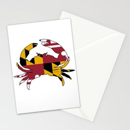 Maryland Crab Flag Stationery Cards