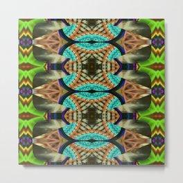 Festive Mandalic Pattern Metal Print