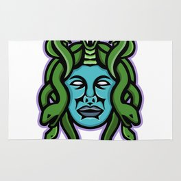 Medusa Greek God Mascot Rug