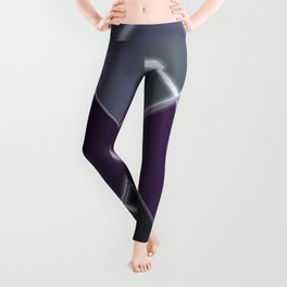 Mosaic tiled glass with a laser show Leggings