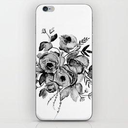 GREYSCALE ROSES iPhone Skin