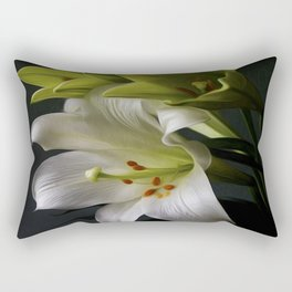 Elegant Water Lily Rectangular Pillow