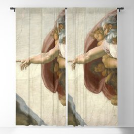 Michelangelo - The Creation of Adam Blackout Curtain