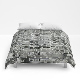 Knowing Wink (P/D3 Glitch Collage Studies) Comforters