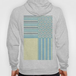 Summer Blues and Yellow Multi Pattern Design Hoody