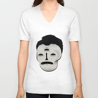 dracula V-neck T-shirts featuring Dracula by Mila Spasova