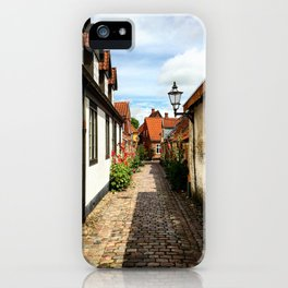 Narrow streets of Ribe iPhone Case